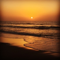 Sunset at Bijilo Beach