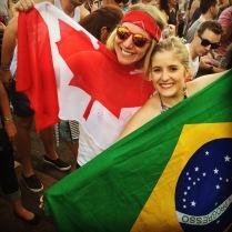 My Brazilian host Maria and I