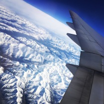 Flying above the Arctic Circle
