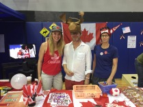 Canada booth during our International Day event