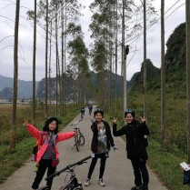 Discovering the countryside of Qing Yuan on wheels