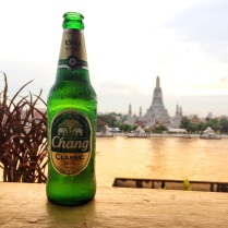 A cold Chang by the Chao Phraya River