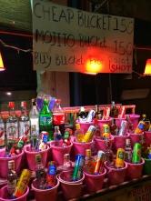When in Thailand, drink buckets!