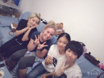 Couchsurfing friends in Beijing